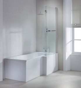 Sommer SOB73 L Shaped Shower Bath Side Panel 1700 x 520mm - White