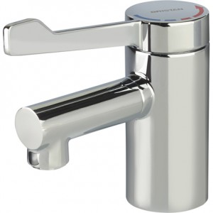 BRISTAN Solo2 Basin Mixer with Long Lever and copper tails (no waste)