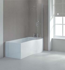 Sommer SOB63 P Shaped Shower Bath Side Panel 1700 x 520mm - White