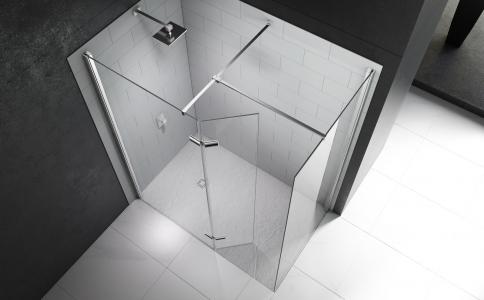 MERLYN Series 10 Wetroom - Showerwall T Bracket (Connect 2 Stabilising Bars)