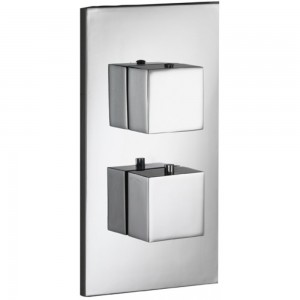 PURA - Sq2 Single Outlet Dual Control Concealed Thermostatic Valve with ABS Coverplate SQDCV
