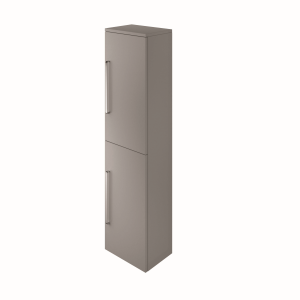 The White Space ST35LAG Scene 140cm Tall Wall Hung Vanity Unit Left Hand - Grey