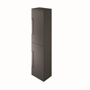 The White Space ST35LCH Scene 140cm Tall Wall Hung Vanity Unit Left Hand - Charcoal