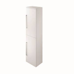 The White Space ST35LWH Scene 140cm Tall Wall Hung Vanity Unit Left Hand - White