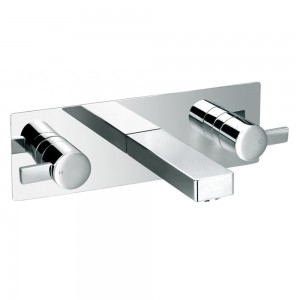 Flova ST3HWMBAS STR8 3-Hole Concealed Basin Mixer with Slotted Clicker Waste
