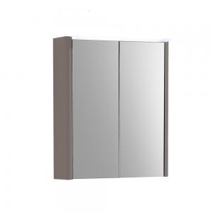 Imex Ceramics SU50TDMCMA Suburb Two Door Mirror Cabinet Light & Socket 500mm Matt Ash