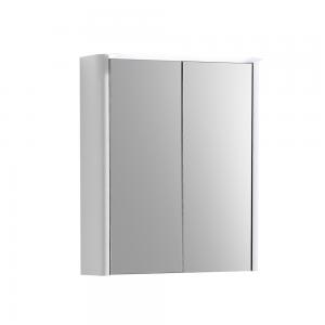 Imex Ceramics SU50TDMCWG Suburb Two Door Mirror Cabinet Light & Socket 500mm White Gloss