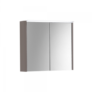 Imex Ceramics SU60TDMCMA Suburb Two Door Mirror Cabinet Light & Socket 600mm Matt Ash