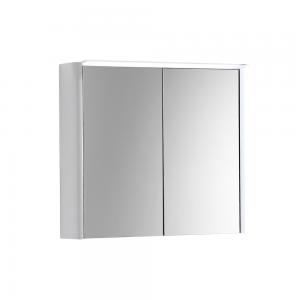 Imex Ceramics SU60TDMCWG Suburb Two Door Mirror Cabinet Light & Socket 600mm White Gloss