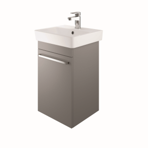 The White Space SW45LAG Scene 45cm Wall Hung Cloakroom Unit Left Hand - Grey