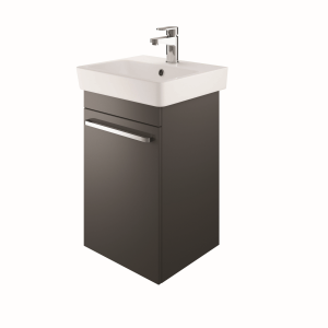 The White Space SW45LCH Scene 45cm Wall Hung Cloakroom Unit Left Hand - Charcoal