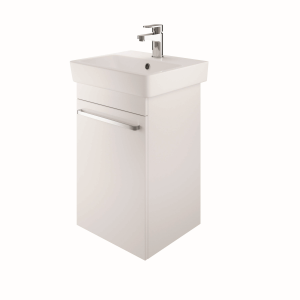 The White Space SW45LWH Scene 45cm Wall Hung Cloakroom Unit Left Hand - White