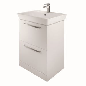 The White Space SW60WH Scene 60cm Wall Hung Vanity Unit - White