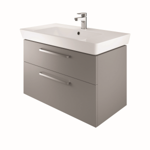 The White Space SW80AG Scene 80cm Wall Hung Vanity Unit - Grey