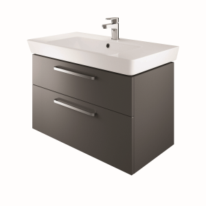 The White Space SW80CH Scene 80cm Wall Hung Vanity Unit - Charcoal