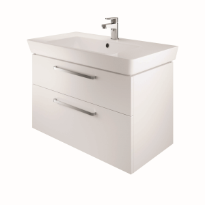 The White Space SW80WH Scene 80cm Wall Hung Vanity Unit - White