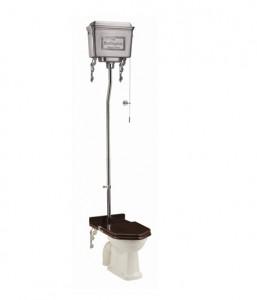 Burlington T58ALU High Level Dual Flush Cistern with Fittings Brushed Aluminium
