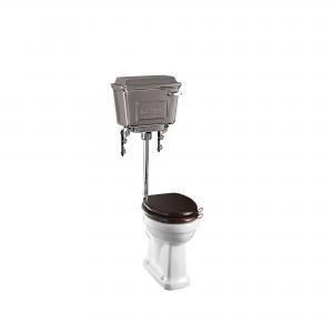 Burlington T71CHR Low/Medium Level Cistern with Fittings Chrome Aluminium