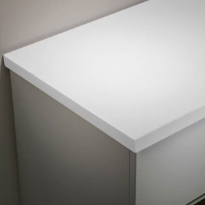 Tavistock TA3W12AAR Lansdown 128cm Solid Surface Worktop - White