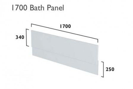 Tavistock  TBP17TMDG Legacy 1700mm Bath Side Panel - Matt Dark Grey