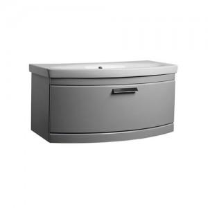 Tavistock TE900WG Tempo 90cm Wall Vanity Unit - Grey
