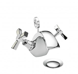 HERITAGE TGRDMOP04 Gracechurch 1 Taphole Basin Mixer - Chrome & Mother of Pearl