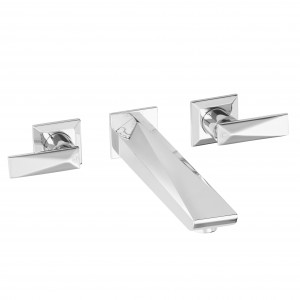 HERITAGE THPC11 Hemsby 3 Taphole Wall Mounted Bath Filler - Chrome