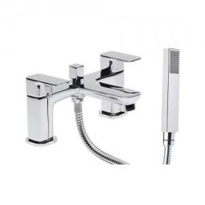 Tavistock Deck Mounted Bath Shower mixer - Chrome  [THZ42]