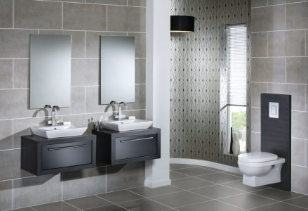 Utopia Stone Effect Wall Tiles - Aluminium Canaletto - Pk 1.18m2