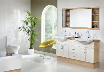 Utopia Classic Plain Floor Tiles - Crema Canaletto - Pk 1.37m2