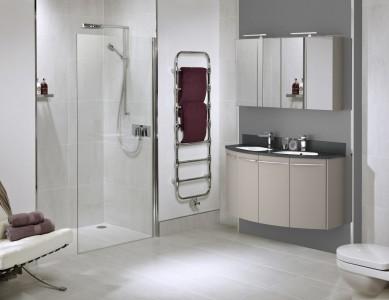 Utopia Classic Plain Floor Tiles - Zinc White - Pk 1.37m2