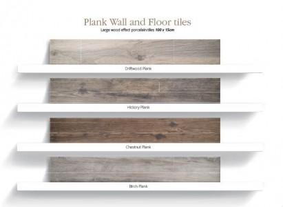 Utopia Plank Wall & Floor Tiles - Chestnut - Pk 1.2m2