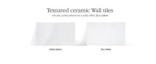 Utopia Textured Effect Wall Tiles - White Matrix - Pk 1.13m2