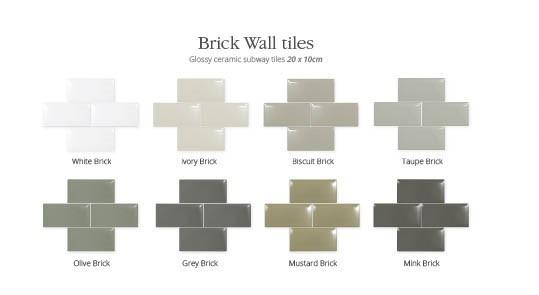 Utopia Brick Wall Tiles - Biscuit - Pk 1.0m2