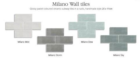 Utopia Milano Wall Tiles - Sky - Pk 1.04m2
