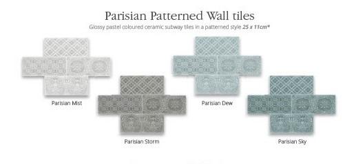 Utopia Parisian Wall Tiles - Mist - Pk 1.04m2