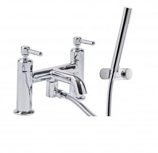 Tavistock Marston Deck Mounted Bath & Shower Mixer with Handset - Chrome [TMS42]