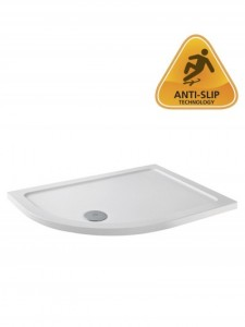 ABS Stone Resin Shower Tray - Offset Quadrant 1000 x 760mm Left Hand - White  [TO1]