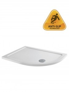 ABS Stone Resin Shower Tray - Offset Quadrant 1000 x 760mm Right Hand - White  [TO2]