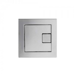 Tavistock Square Flush Button Dual Flush - Chrome [TR9003]