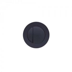 Tavistock Round  Flush Button Black [TR9022]