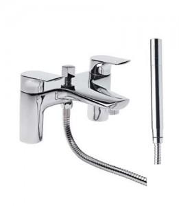 Tavistock Strike Bath Shower Mixer with hose and handset - Chrome [TSE42]