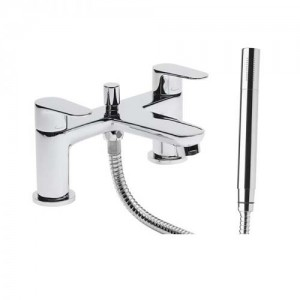 Tavistock Deck Mounted Bath Shower mixer - Chrome  [TZE42]