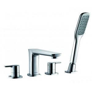 Flova UR4HBSM Urban 4-Hole Bath & Shower Mixer with Shower Set
