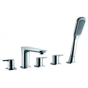 Flova UR5HBSM Urban 5-Hole Bath & Shower Mixer with Shower Set