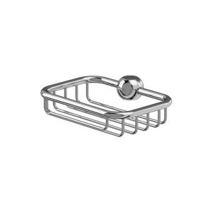 Burlington Soap basket for vertical riser - Chrome [V23]