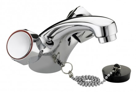 BRISTAN Club Mono Basin Mixer Without Waste with Metal Heads Chrome