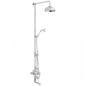 Booth & Co by Vado BC-AXB-123/RRK-CP 3 Outlet Exposed Shower Column with Bath Spout  Chrome