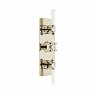 Booth & Co by Vado BC-AXB-128/2-BN Concealed Thermostatic Valve 2 Outlets 3 Handles Nickel