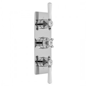 Booth & Co by Vado BC-AXB-128/2-CP Concealed Thermostatic Valve 2 Outlets 3 Handles Chrome